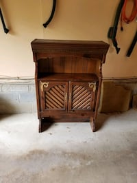 Solid wood hutch desk table