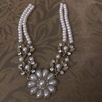 silver and white pearl necklace Falls Church, 22041