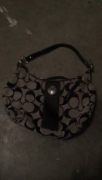 black and gray Coach monogram hobo bag New Westminster, V3M 1E3