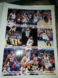 Basketball cards Never broken up all one piece