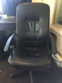 black leather office rolling armchair Vancouver, V6H