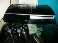 black Sony PS3 Super Slim with two controllers San Elizario, 79849