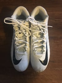White Nike Alpha Menace Varsity Mid Mens Football Cleats New Westminster, V3M 4C8