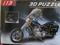 *NEW in box, 113pc 3D Motorcycle Puzzle