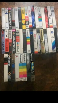 assorted vhs movie case lot
