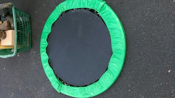 black and green exercize trampoline
