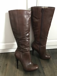 Dark Brown Aldo Leather Boots, size 7.5.  Brand new - retailed for over $200.00  Red Deer, T4R 1L9