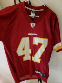 red and white NFL jersey 42 km
