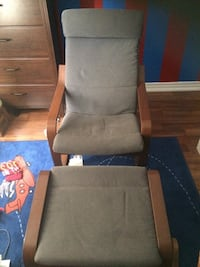 brown wooden framed gray padded glider chair Vaughan, L4L 9H3