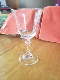 Wine glass and shot glass