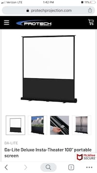 Da-Lite Insta Theater Pop Up Projection Screen 100""