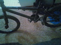 black and white BMX bike