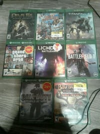 Xbox one games (new in plastic)