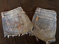 Size 29 and 29 jean shorts Paige and wh1 Edmonton, T6W 2N9