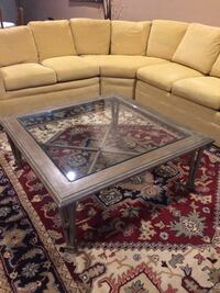 Rectangular brown framed glass top coffee table Clearwater, 33761