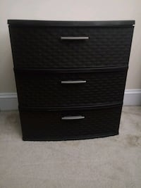 3 Drawer Wide Weave Tower Silver Spring, 20910