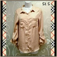 WOMENS SILKY BEIGE TAN TOP SIZE S  Ontario, 91762