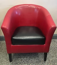 red and black pleather armchair Plainview