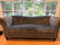 brown wooden framed brown padded couch Arlington, 22205