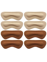 Heel Pads Grips Liners Inserts for Shoes Too Big,Shoe Filler Improved Shoe Fit and Comfort,Prevent Blisters, 4 Pair Unisex (Beige/Brown, Thick) 圣地亚哥, 92123