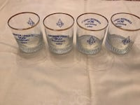 Edmonton Lodge #7 Whiskey glasses (Set of 4)(New) Edmonton, T6C 4C8