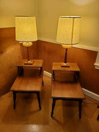 End tables and matching lamps