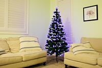 New 6' ft Pre-Lit Christmas Tree with Red & Blue Fiber Optic Lights Yorba Linda, 92886