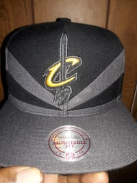 black and gray Cleveland Cavaliers Adjustable Fit