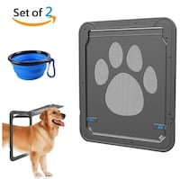 Brand New Seal in Box Pet Dog Screen Door Pet Screen Door Protector with One Collapsible Silicone Pet Dog Cat Bowl Automatic Lock/Lockable 2 PACK Hayward, 94542