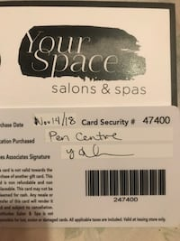 MANICURE & PEDICURE GIFT CARD 463 km