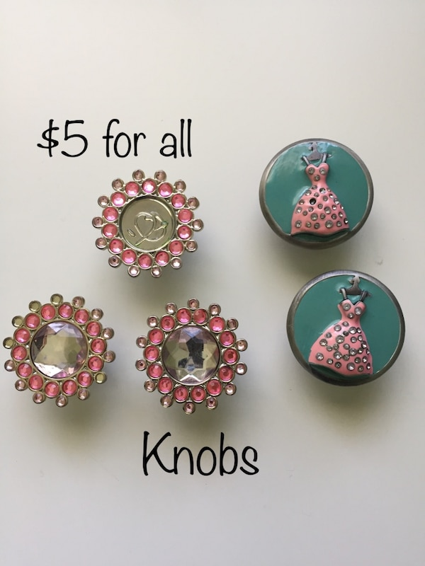 Chic knobs for closets or accents on furniture