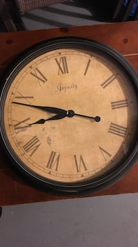 round brown and black  infinity wall clock Gaithersburg, 20879