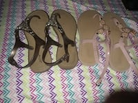 pair of women's brown and pink sandals Port Clinton, 43452