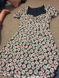 women's black and white floral dress Vancouver, V5T 1L3