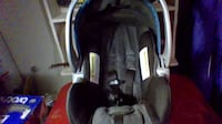 baby's black and gray car seat carrier HOUSTON