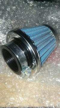 blue and grey air filter