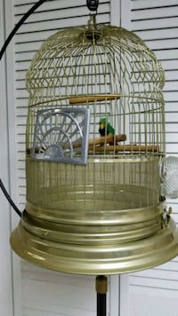 Vintage bird cage and stand