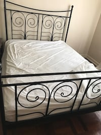 black metal bed frame with white mattress Toronto, M4A