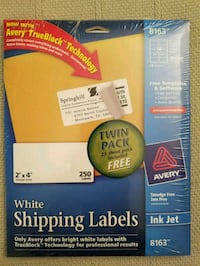 AVERY '8163' Twin Pack 2x4 Labels Mesa, 85207