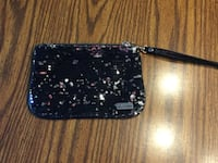 Black Express sequin wristlet