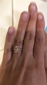 10 k rose gold morganite ring with diamond accents  The Acreage, 33470