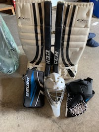 Selling my ccm pads glove blocker mask jock and stick  Need it gone!!! Vaughan, L4H 1T6