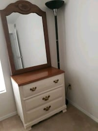 Real Oakwood dresser with mirror Raleigh, 27612