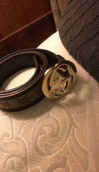 Black and gray gucci leather belt Calgary, T2A 4V8