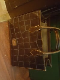 brown and black leather tote bag Madera, 93638