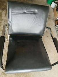 black and gray leather padded armchair Waterloo, N2T 0A9