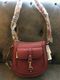 women's brown leather sling bag Chatham, 62629