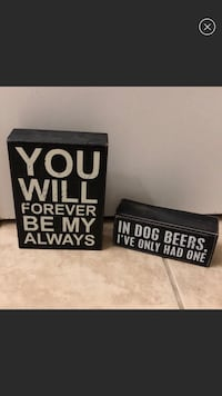 SET OF 2 - QUOTE SIGNS HOME DECOR