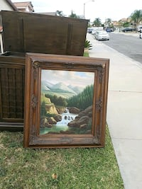 brown wooden framed painting of house Moreno Valley, 92553