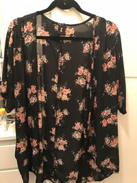 black and pink floral long-sleeved shirt South Gate, 90280